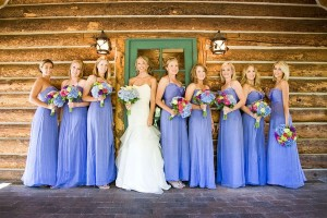 Canvas prints record the bridesmaid time
