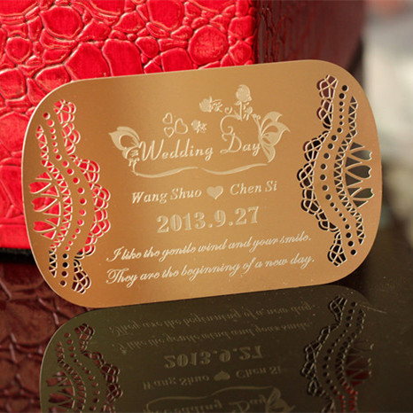 The luxurious metal wedding invitation